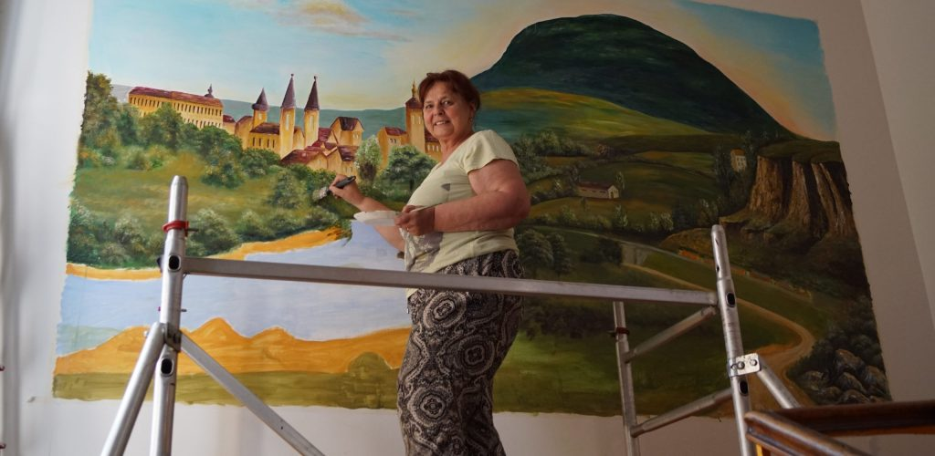 "Hora ""Říp""  – obraz paní Emílie Krajňákové"